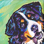 Modern Dog Art Paintings - Sweet Berner by Lea