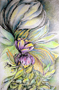 Cornucopia Drawings - Sweet Bouquet by Rosanne Licciardi
