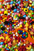 Confectionery Prints - Sweet candy with scoop Print by Garry Gay