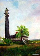 Sweet Charlie Lighthouse Print by Betty Pimm