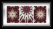 Repeat Patterns Digital Art Posters - Sweet Cherry Supreme - Triptych - Dining Art Poster by Barbara Griffin