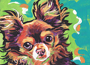 Chihuahua Colorful Art Prints - Sweet Choco Chi  Print by Lea