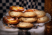 Santa Metal Prints - Sweet - Cookies - Cookies and Danish Metal Print by Mike Savad