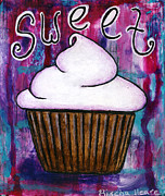 Turquoise Mixed Media - Sweet Cupcake by Rischa Heape