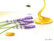Bee Digital Art - Sweet flowers by Veronica Minozzi