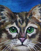 Jsm Fine Arts Framed Prints - Sweet Green Eyes  Framed Print by John Malone