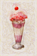 Strawberry Sundae Art - Sweet - Ice Cream - Ice Cream Float  by Mike Savad