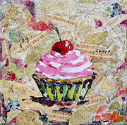 Frosting Mixed Media Posters - Sweet Joy Poster by Yelena Koehn