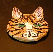 Cat Art Ceramics - Sweet Kitty Dish by Debbie Limoli