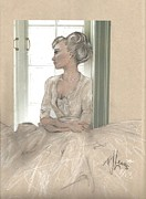 Contemplating Framed Prints - Sweet Lady Anne Framed Print by P J Lewis