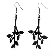 Perspex Jewelry Jewelry - Sweet Leaves - branch earrings by Rony Bank