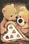 Teddy Bears Mixed Media - Sweet love... by Angela Doelling AD DESIGN Photo and PhotoArt