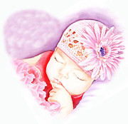 Precious Baby Framed Prints - Sweet Lovely Dreams Framed Print by Irina Sztukowski