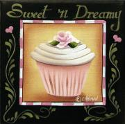Primitive Art Prints - Sweet n Dreamy Print by Catherine Holman