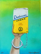 White Sugar Mixed Media Posters - Sweet Painting Poster by R Neville Johnston
