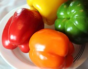 Stir Posters - Sweet Peppers - Vegetables - Bright Colors Poster by Barbara Griffin