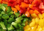 Stir Fry Posters - Sweet Peppers - Vegetables - Cook - Closeup Poster by Barbara Griffin