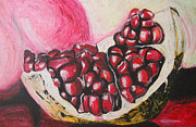 Juicy Pastels Posters - Sweet pomegranate Poster by Michael Amos