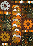 Autumn Art Tapestries - Textiles Posters - Sweet Potato Quilt Poster by Jean Baardsen