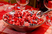 Gifts For Him Art Prints - Sweet Red Chocolaty Kisses Print by Andee Photography