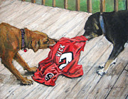 Michael Vick Paintings - Sweet Revenge by Donna Tucker