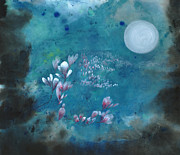 Sea Moon Full Moon Posters - Sweet Scent in My Dream Poster by Mui-Joo Wee