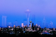 Seattle Skyline Art - Sweet Seattle Evening by Benjamin Yeager