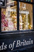 London Shopping Posters - Sweet Shop Poster by Heather Applegate