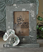 Rustic Ceramics Metal Prints - Sweet SucRose Frame Metal Print by Amanda  Sanford