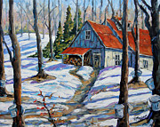 Original  By Artist Paintings - Sweet Sugar Shack by Prankearts by Richard T Pranke