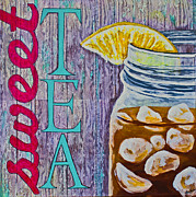Word Prints - Sweet Tea Print by Melissa Sherbon