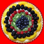 Birthdays Framed Prints - Sweet Treats - Fruit Cake - 5D20920 - square - red Framed Print by Wingsdomain Art and Photography