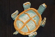 Dish Ceramics - Sweet turtle dish by Debbie Limoli