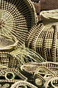 Gullah Art Framed Prints - Sweetgrass Baskets - D002362 Framed Print by Daniel Dempster