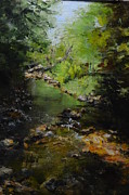Rill Paintings - Sweetgrass Creek by Dolly Bevan Manion