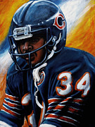 Chicago Bears Framed Prints - Sweetness Framed Print by Marlon Huynh