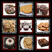 Kitchen Decor Prints - Sweets For The Sweet Tic Tac Toe 2 Print by Andee Photography