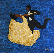 African American Art Tapestries - Textiles Framed Prints - Swept Away #2 Framed Print by Aisha Lumumba
