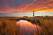 Cape Hatteras Lighthouse Posters - Swept Away - Bodie Island Lighthouse Poster by Bernard Chen