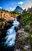 Timed Exposure Prints - Swiftcurrent Falls Print by Aaron Aldrich