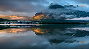 Many Glacier Photos - Swiftcurrent Lake Sunrise by Dan Mihai