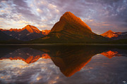 Peter James Nature Photography Posters - Swiftcurrent Reflection Poster by Peter Coskun