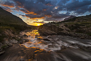 Many Glacier Photos - Swiftcurrent Sunrise by Joseph Rossbach