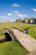 Clubs Framed Prints - Swilcan Bridge On The 18th Hole At St Andrews Old Golf Course Scotland Framed Print by Unknown