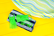 Beach Towel Prints - Swimming flippers Print by Joe Belanger