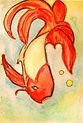 True Vine Gallery-- Donna E Dixon - Swimming Goldfish