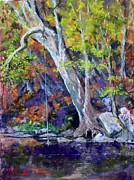 Etc.. Pastels - Swimming Hole by Bruce Schrader
