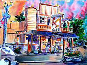 Old Town Temecula Framed Prints - Swing Inn Framed Print by John  Dunn