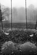 Framed Swing Set Photograph Posters - Swing Seats I Poster by Steven Ainsworth
