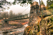 Minnesota Art - Swinging Bridge Before The Storm by Shutter Happens Photography